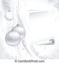 Christmas background - white Christmas backdrop with three...