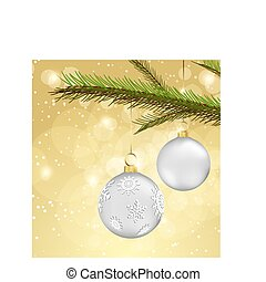 christmas background with ball deco