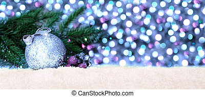 Christmas background with ball.