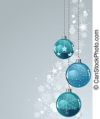 Christmas Background with balls and - Vector Christmas...