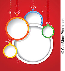 Christmas background with balls decorations