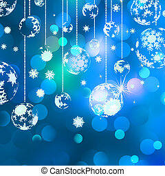 Christmas background with baubles. EPS 8