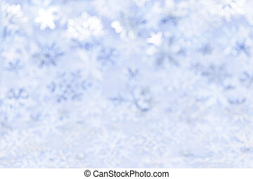 Christmas background with blue snowflakes