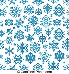 Christmas background with blue snowflakes. Vector illustration