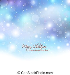 Christmas background with boket lights. Abstract elegant lights with boket lights and stars