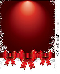 christmas background with bows and