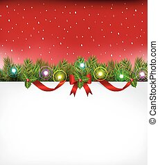 Christmas background with bulb