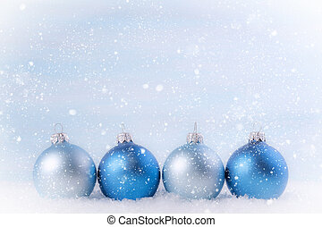 Christmas background with Christmas balls. Shallow depth of field