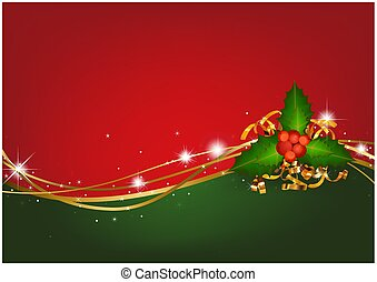 Christmas Background with Christmas Holly