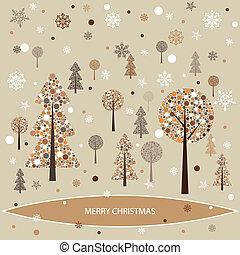 Christmas background with Christmas tree