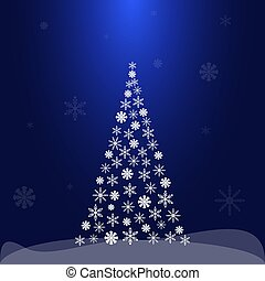 Christmas background with Christmas tree. Vector illustration