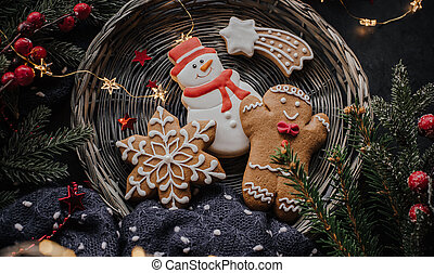 Christmas background with cookies
