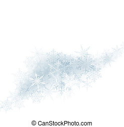 Christmas background with crystal snowflakes.