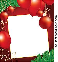 christmas background with decoratio
