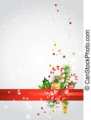Christmas background with decoration
