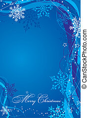 Christmas background with decoration, vector