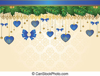 background with decorations.