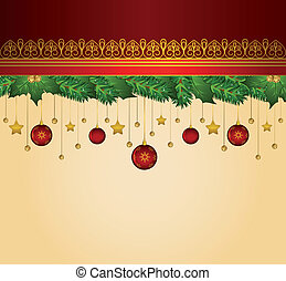 background with decorations