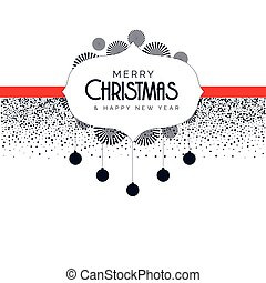 christmas background with decorative elements