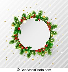 Christmas background with decorative frame