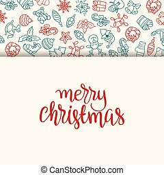 Christmas background with different icons.