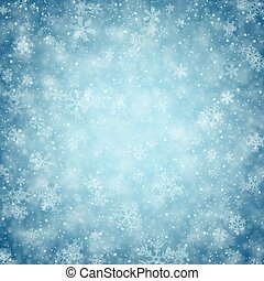 Christmas background with fallen snowflakes. - Winter...