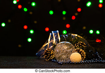Christmas background with festive decoration