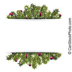 Christmas background with fir branc - Christmas background...