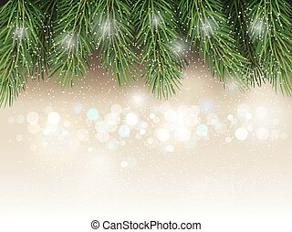 Christmas background with fir tree branchs.