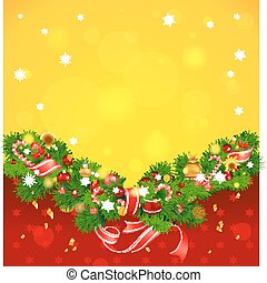 Christmas background with fir tree
