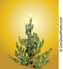 Christmas background with fir-tree. Vector