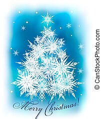 Christmas background with fir-trees