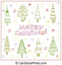 Christmas background with fir trees