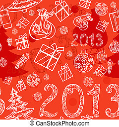 Christmas background with gifts seamless