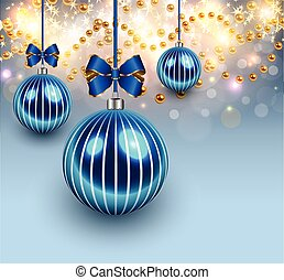 Christmas background with glass bal - Christmas background...