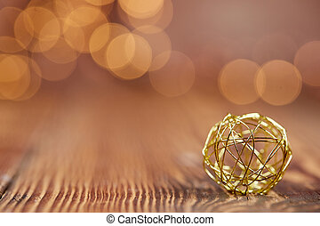 Christmas background with golden ball