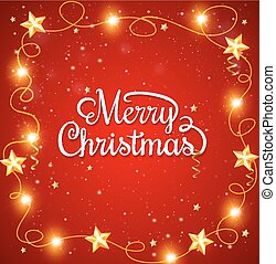 Christmas background with greeting inscription