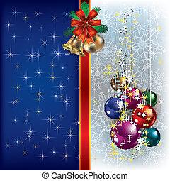 Christmas background with handbells