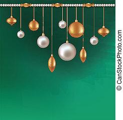Christmas background with hanging ball - Christmas design...