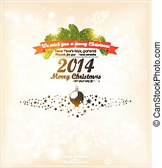 Christmas background with label and snowflakes vector background bokeh