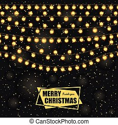 Christmas background with light lamps garlands
