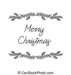 Christmas Background with Mistletoe Branches