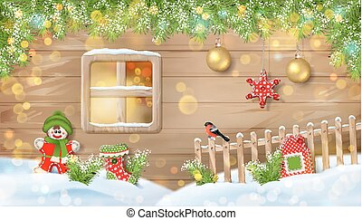 Christmas Background with Ornaments