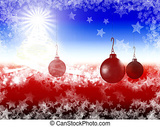 Christmas Background with ornaments3