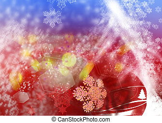 Christmas Background with ornaments5