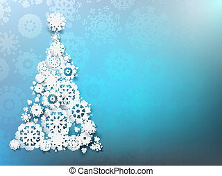 Christmas Background with paper snowflakes. EPS 10