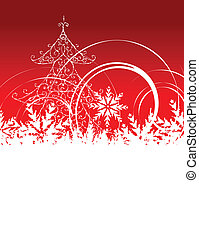 Christmas background with place for