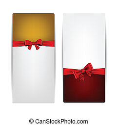 Christmas background with red bow.