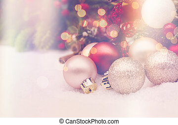 Christmas background with retro effect