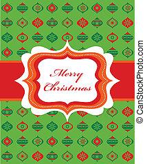 christmas background with retro frame